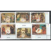 2002 Гибралтар Культура Праздники Рождество 6 марок