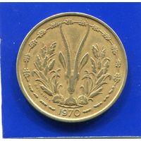 Западная Африка 25 франков 1970