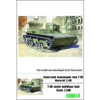 """ZEBRANO"" Z100014. Советский плавающий танк Т-38. Масштаб 1:100"