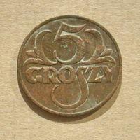 5 грошей 1930 года. 6-я.