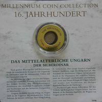 """YS: Венгрия, Фердинанд I, серебряный динар 1533, XVI век, серия """"Монеты тысячелетия"""""""
