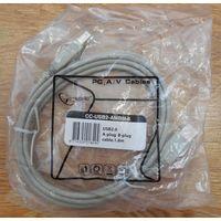 Новый кабель для принтеров 1,8 м Gembird CCF-USB2-AMB