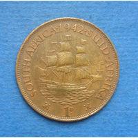 Южная Африка Британский доминион 1 пенни 1942 Георг VI