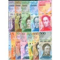 Венесуэла компл.12 бнкн UNC 2013-2017 2,5,10,20,50,100,500,1000,2000,5000,10000,20000 боливар