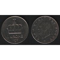 Норвегия km419 1 крона 1975 год (AB) (f50)nr0(ks00)