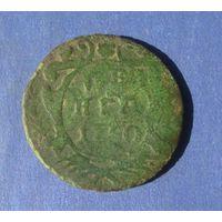 Деньга 1750 года.