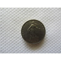 1 франк 1970 Франция KM # 925.1 никель