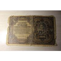 1000 марок польских 1919 года.