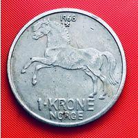 13-16 Норвегия, 1 крона 1968 г.