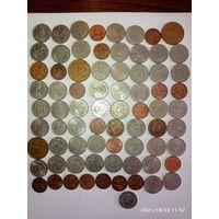 Монеты Дании с рубля.