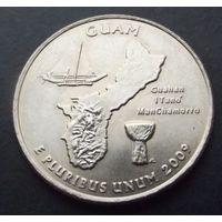США. 25 центов 2009. Guam /D/