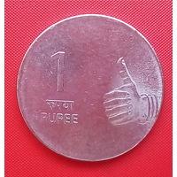63-08 Индия, 1 рупия 2009 г.