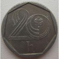 Чехия 20 геллеров 1993 г. (v)