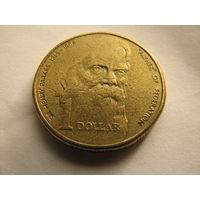 1 доллар 1996 Австралия (100-летие со дня смерти основателя федерации Австралии сэра Генри Паркеса (1815-1896).