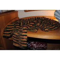 Шарф женский-зимний-ручная вязка-высокого уровня-шерсть-тёплый, то что ещё нужно зимой!