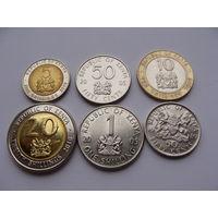 Кения. набор 6 монет 50 центов 1,5,10,20 шиллингов 1998-05-10 год