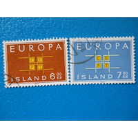 Исландия. 1963 г. Мi-374-375. Europa. CEPT.