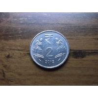 Индия 2 рупии 2012