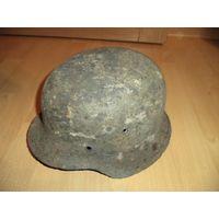 Немецкая каска (шлем) м42 размер 68 - оригинал в родном окрасе ВОВ, ВМВ, Третий Рейх
