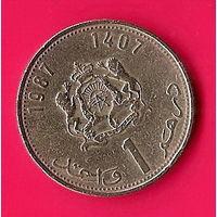 38-36 Марокко, 1 дирхам 1987 г.