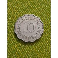 Маврикий 10 цент 1947 г (  редкая, один год тиража )