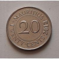 20 центов 2012 г. Маврикий
