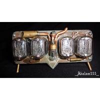 Ламповые часы в стиле стимпанк ин-12
