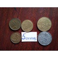 5 монет франция