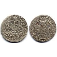 Полугрош 1559, Жигимонт Август, Вильно. Окончания легенд: Ав - L, Рв - LITV