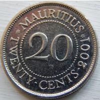 Маврикий 20 центов