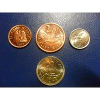 Фолклендские острова 4 монеты одним лотом