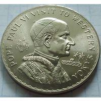 Самоа и Сисифо 1 Тала (доллар) 1970, визит папы Павла VI, 38,8 мм!
