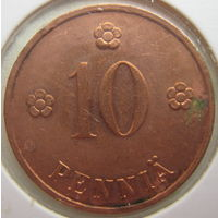 Финляндия 10 пенни 1935 г. В холдере (g)
