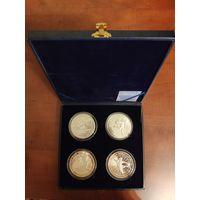 Футляр для 4 монет серебро 100 рублей , 5 унций.