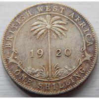 7. Британская Западная Африка 1 шиллинг 1920 год