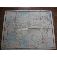 Схема железных дорог СССР 1966 год