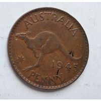 Австралия 1 пенни, 1945 3-13-4