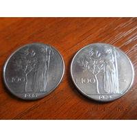 100 лир, Италия, 1979 и 1986 г. вып.