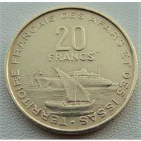 Французские Территории Афаров и Исса. 20 франков 1968 год KM#15 А-1