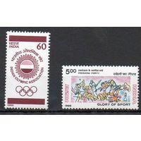 Спорт Индия 1988 год чистая серия из 2-х марок (М)