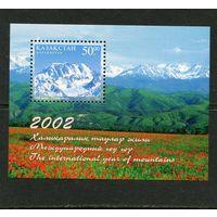 Казахстан. Международный год гор. Тяньшанский хребет. Талгар. Блок