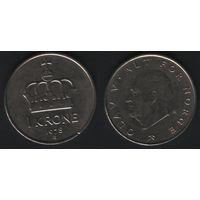 Норвегия km419 1 крона 1978 год (AB) (f50)nr0(ks00)