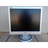 Монитор Philips 150S LCD 15'' б/у исправный с кабелем D-Sub (VGA)