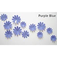 Декор - цветы 3D из ПВХ глянцевые, посадка на двухсторонний скотч (в комплекте), комплект 12 штук. (21)