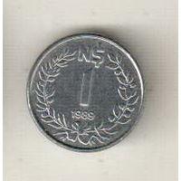 Уругвай 1 новый песо 1989