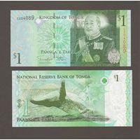Банкнота Тонга 1 паанга (2014) UNC ПРЕСС