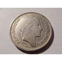 """Алжир. """"Французский""""  100 франков 1950 год KM#93"""