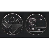 Аруба _km2 10 центов 1991 год (ba) (b06)