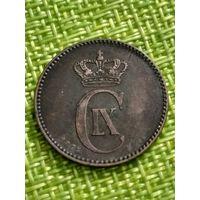 Дания 2 эре 1875 г