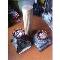 ФОРМЫ капители и базы колонны-пъедестала и деревянный ствол для изготовления формы ствола колонны-пьедестала